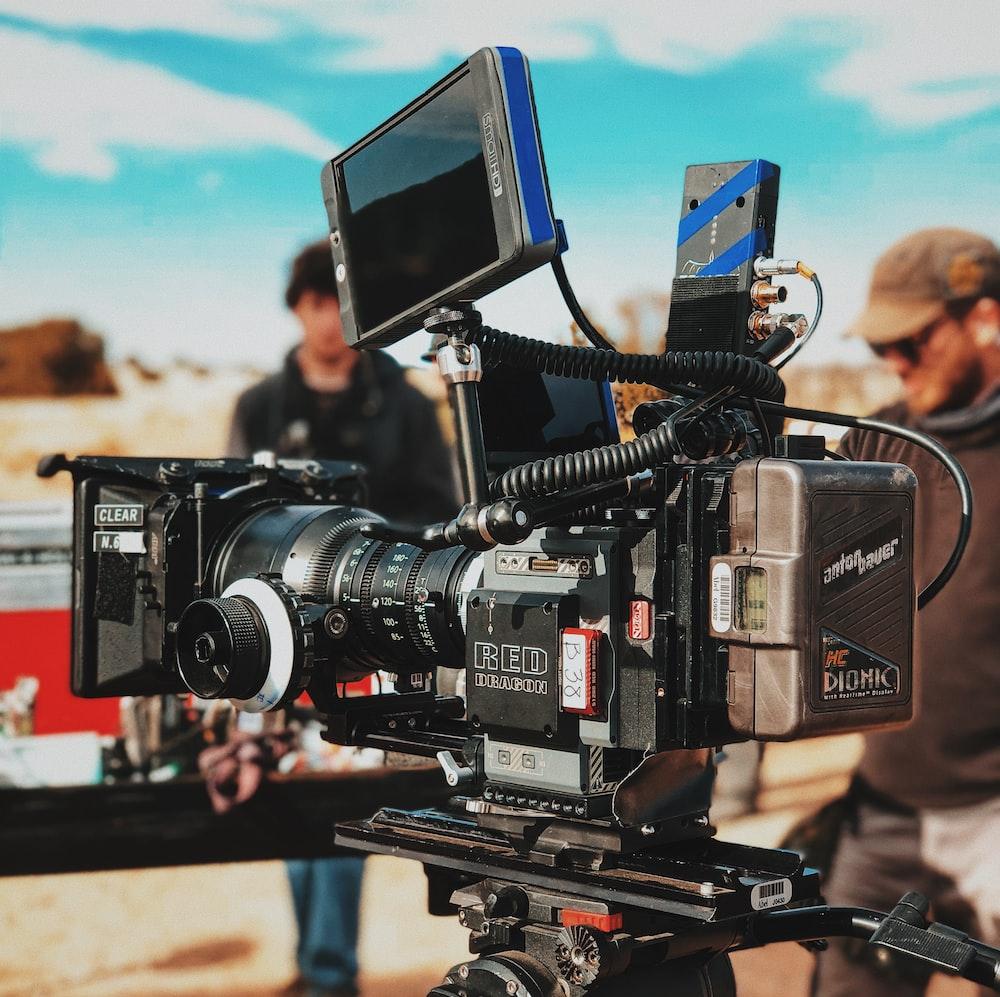 black digital video camera