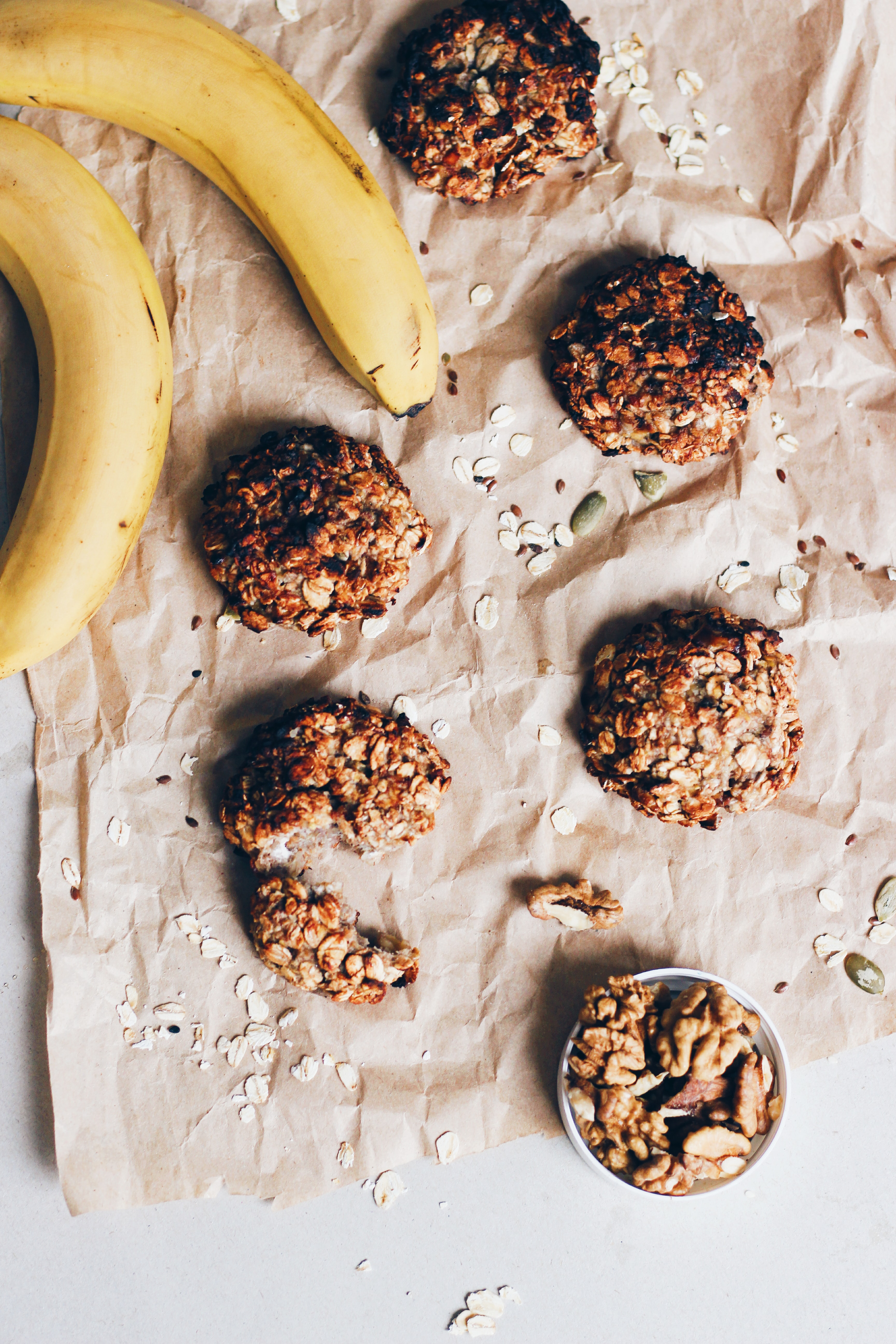 banana fruit with nuts