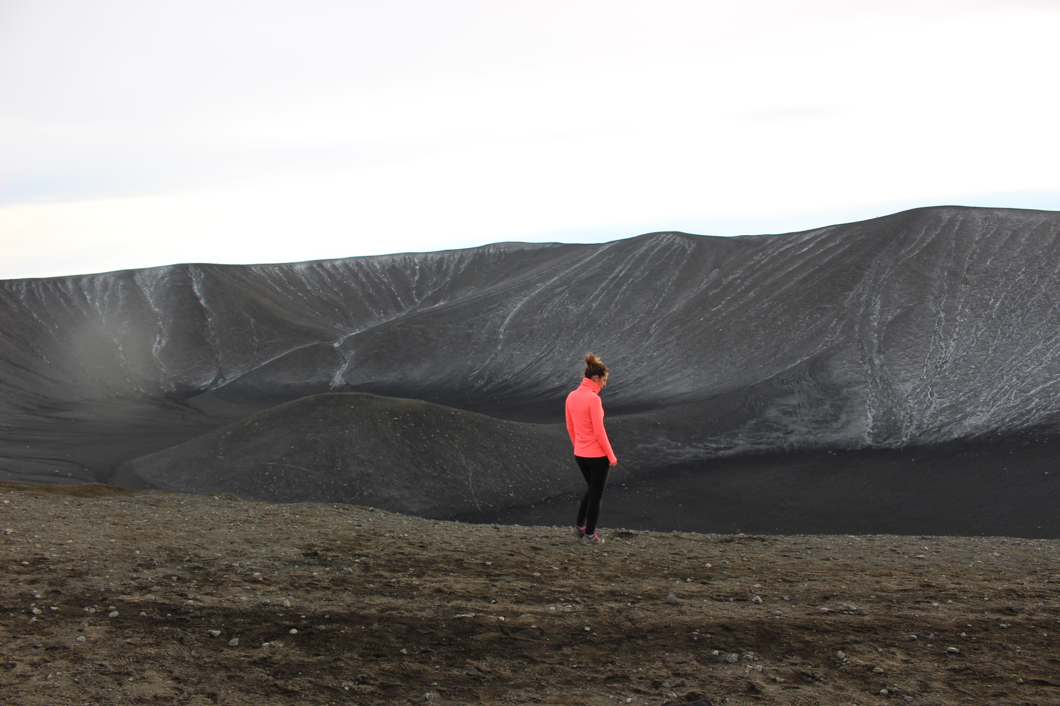 person standing on open field
