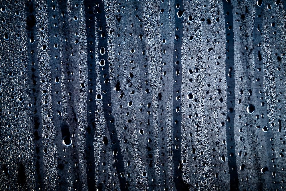 timelapse photo of rain drops