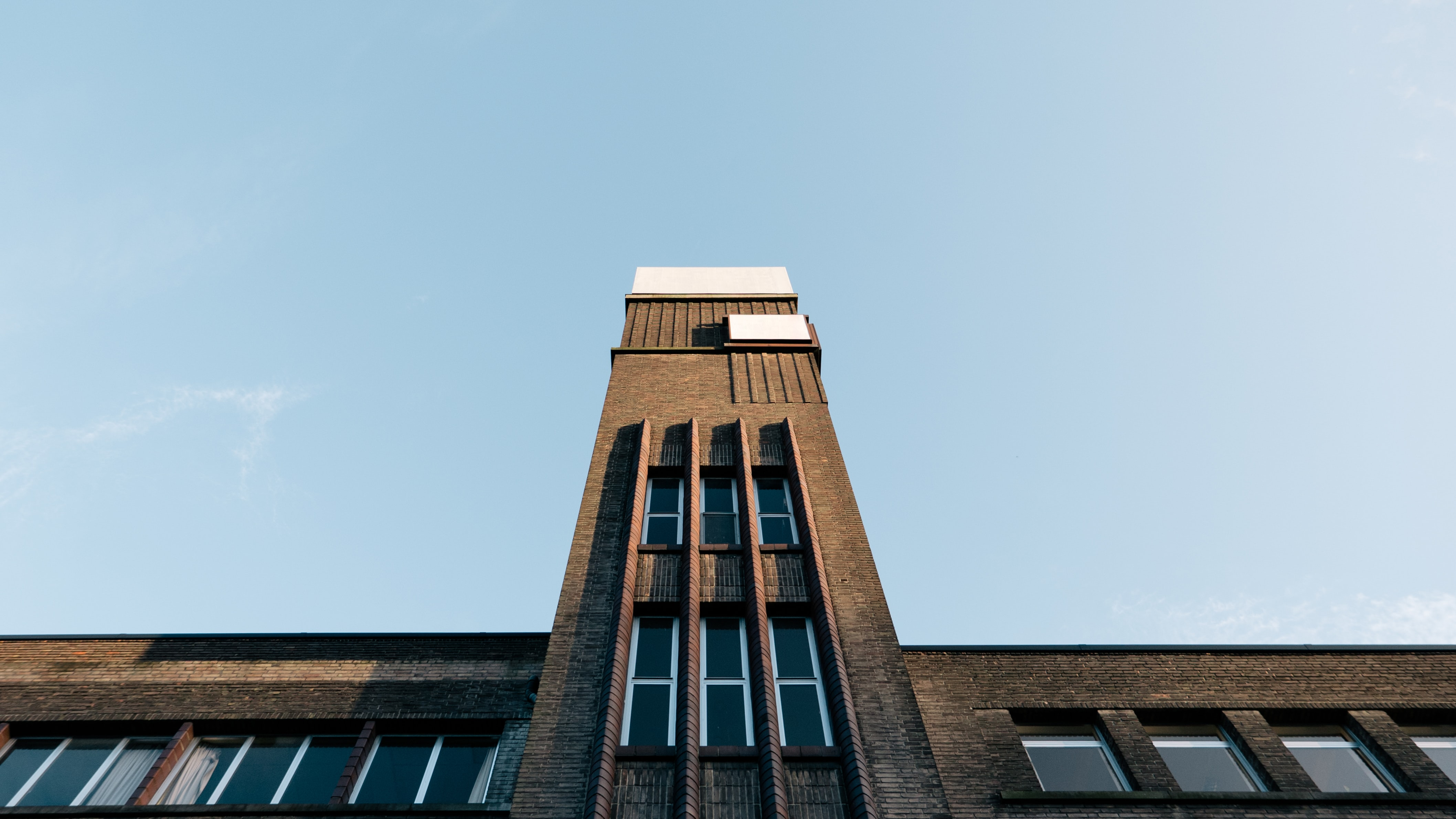 worm's-eye view of concrete building
