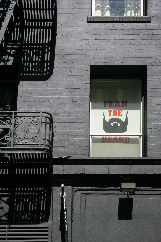 Fear The Beard signboard