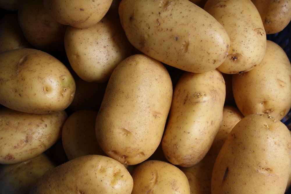 brown potato lot
