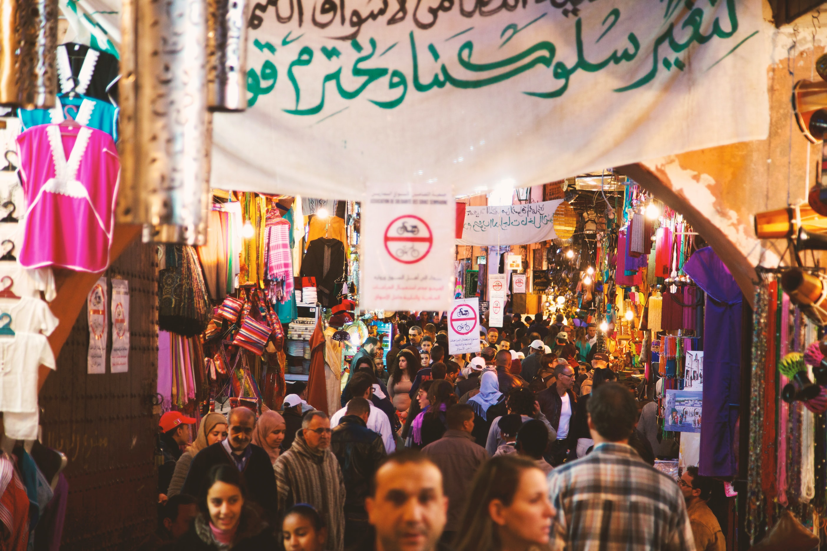 people at night market during night