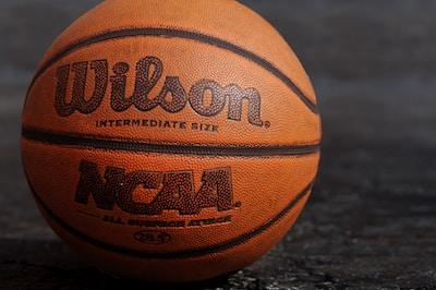 Big Ten, King Rice, Wilson NCAA basketball on black board