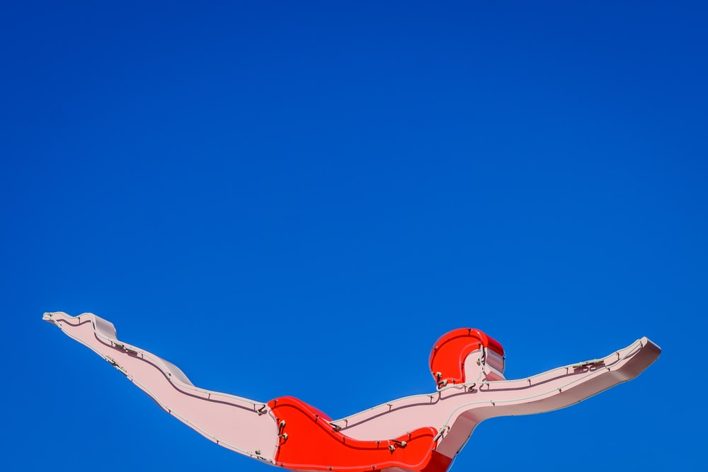 person diving illustration