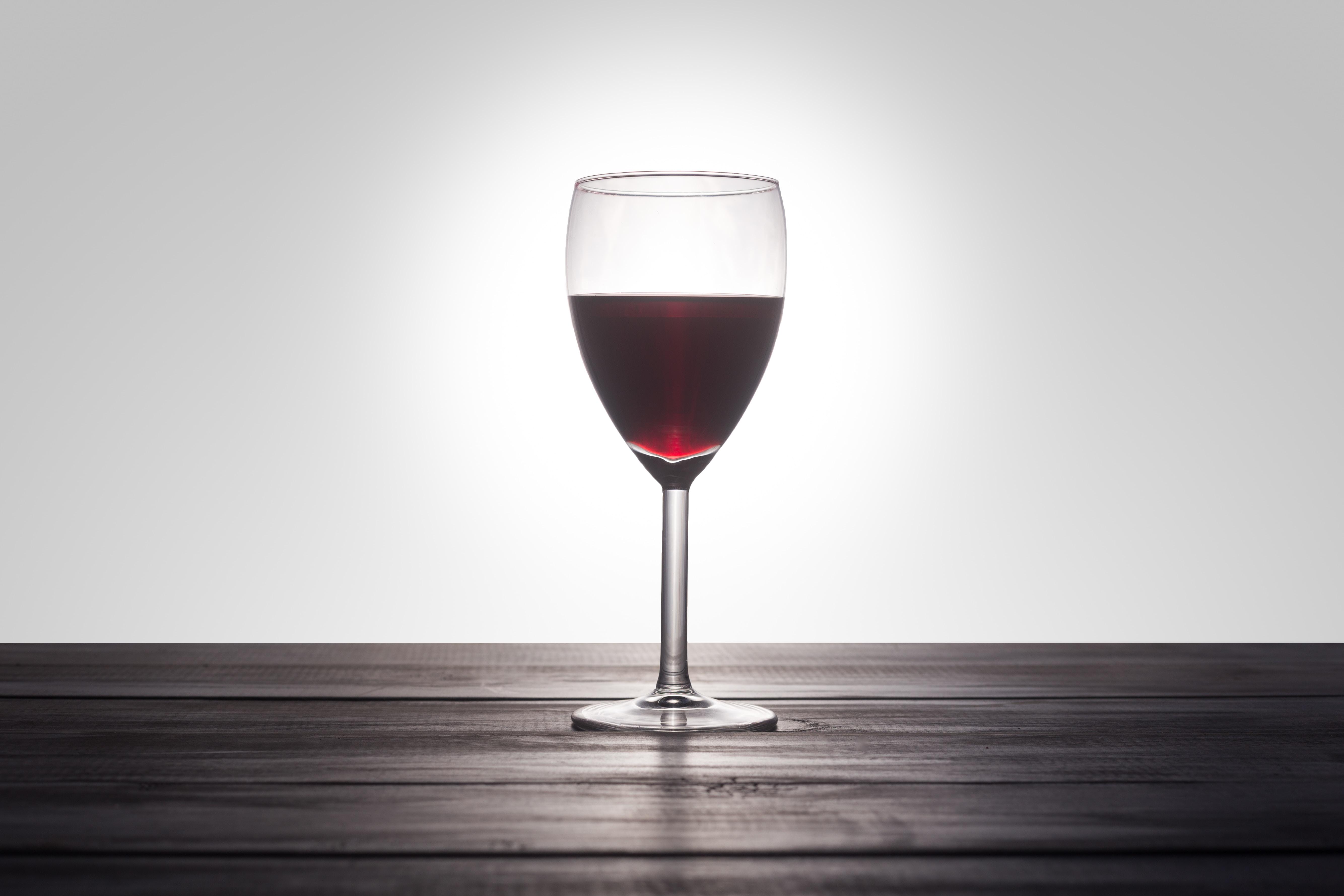clear wine glass