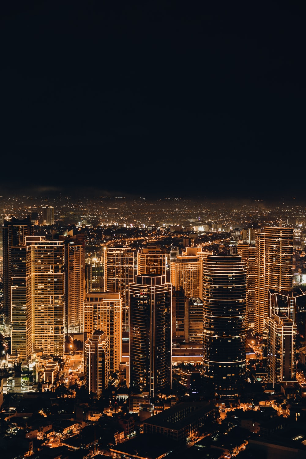 city buildings during night time