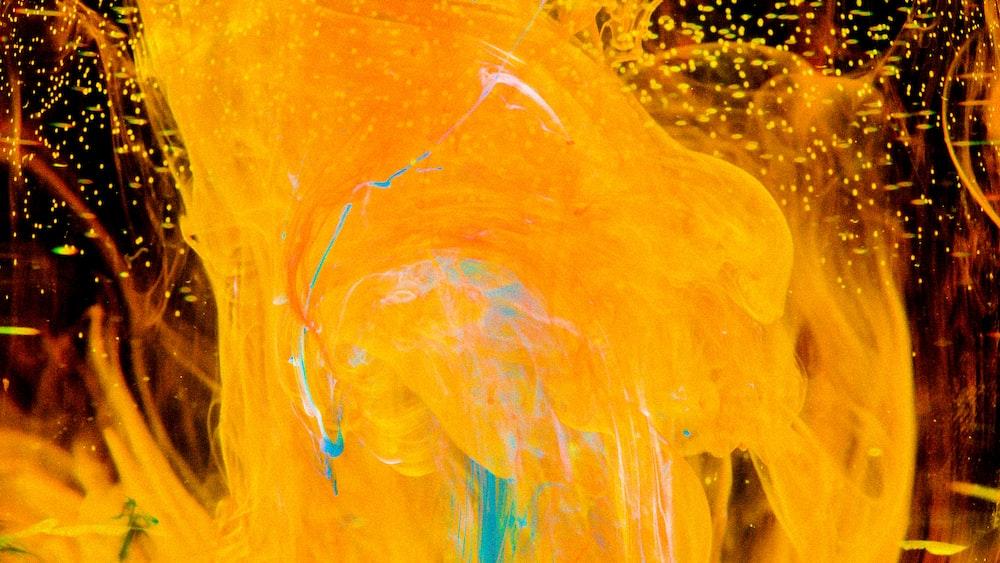 yellow paint on mirror