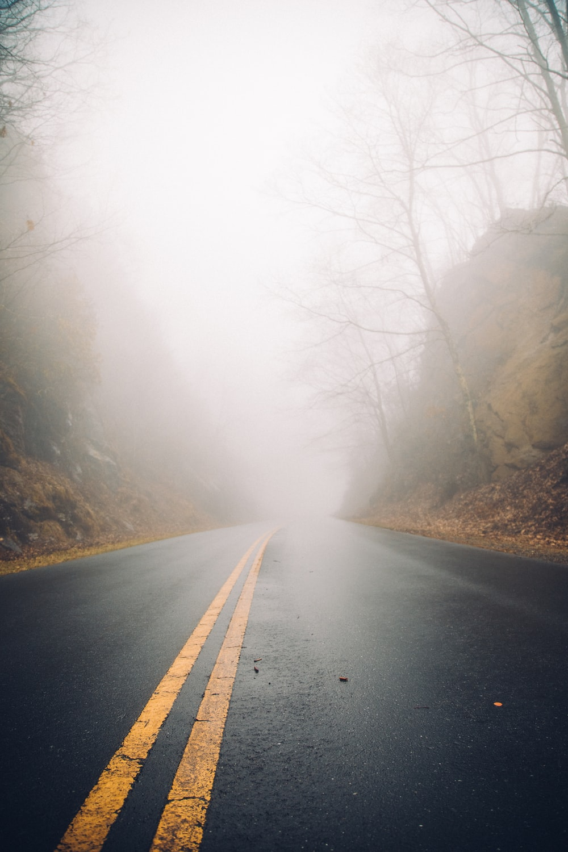photo of empty asphalt road