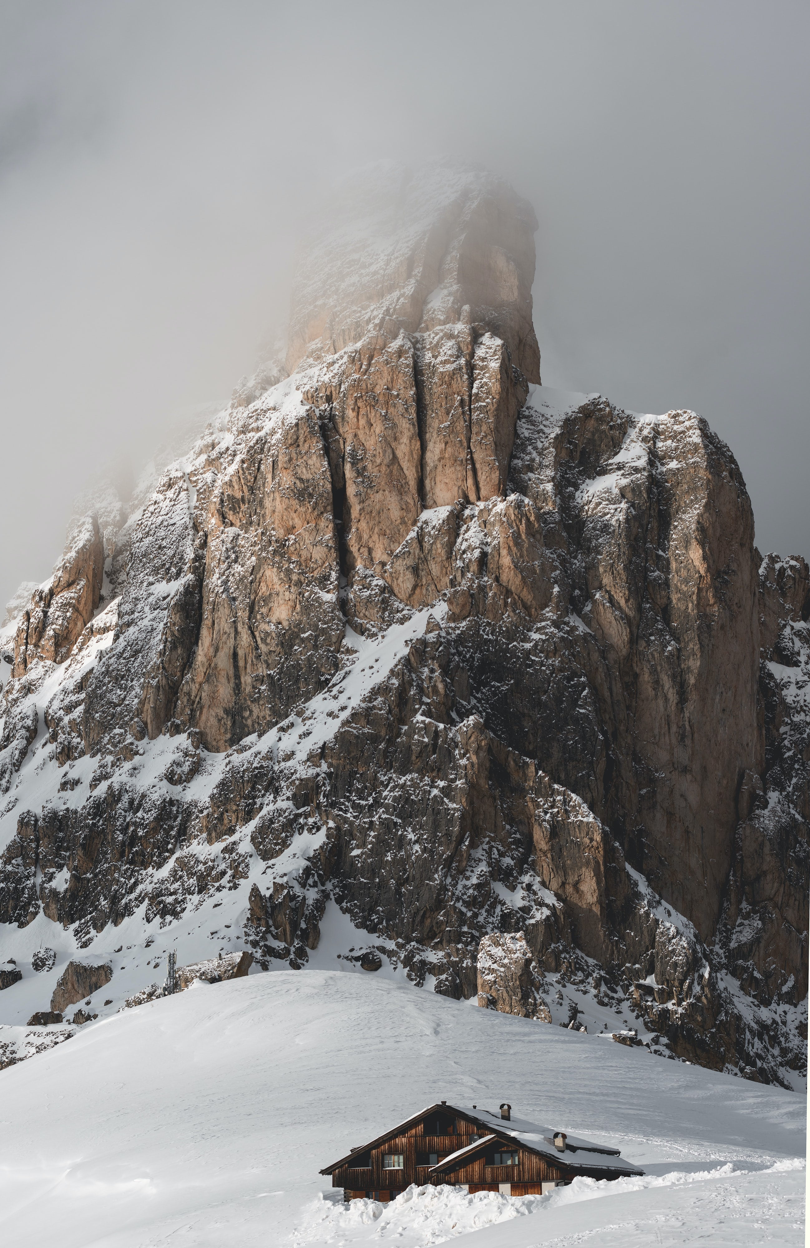 photo of snow covered mountain