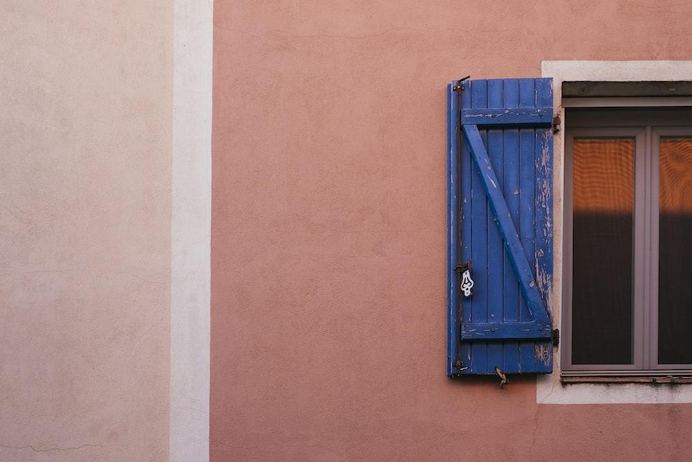 gray wooden window frame