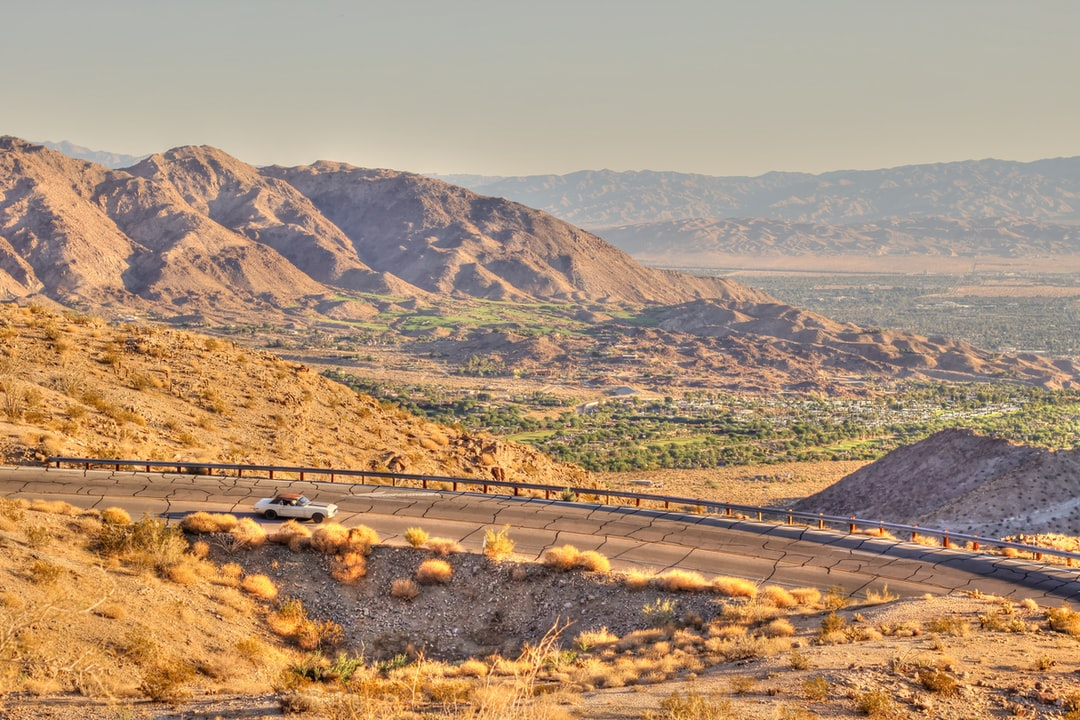 Highway outside Palm Springs