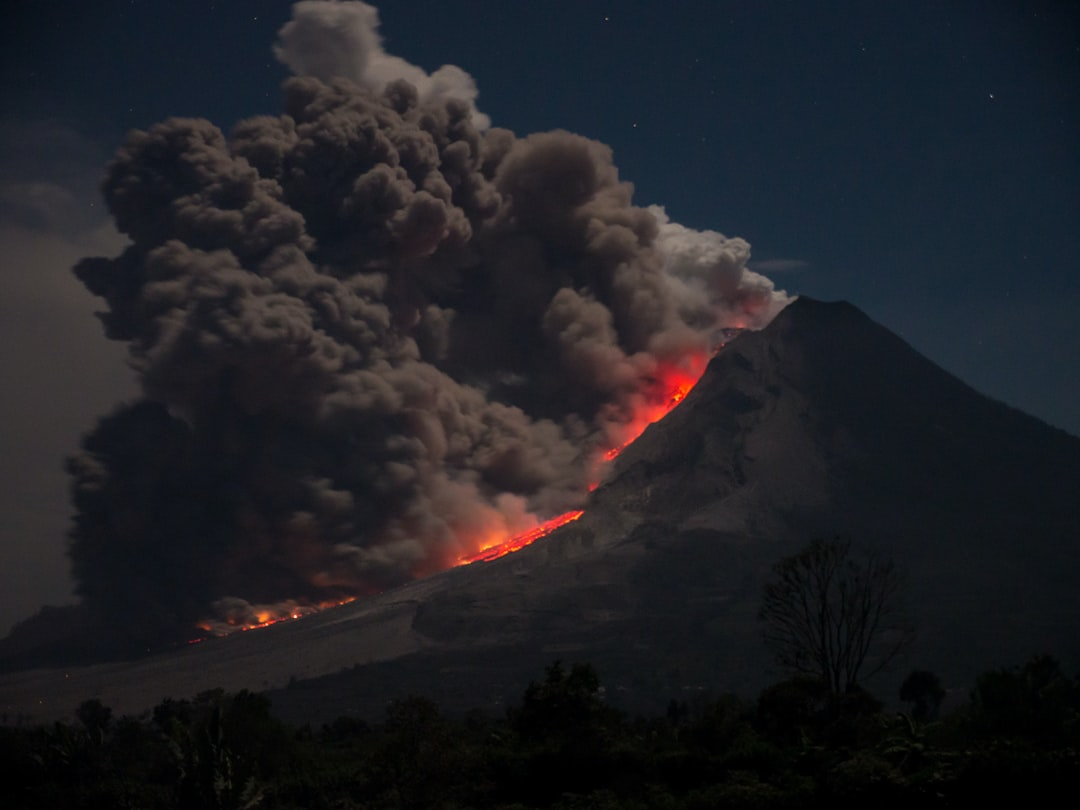 Marc Szeglat shot this picture in 2014 during an eruption of Mount Sinabung on Sumatra.