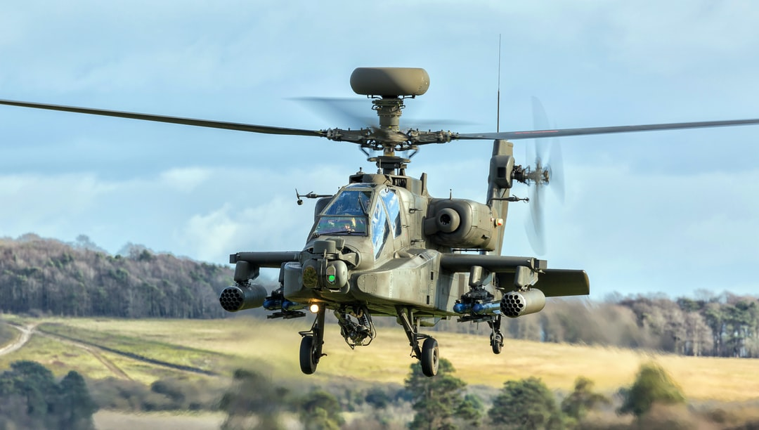 """""""Apache Longbow helicopter on a training sortie"""""""
