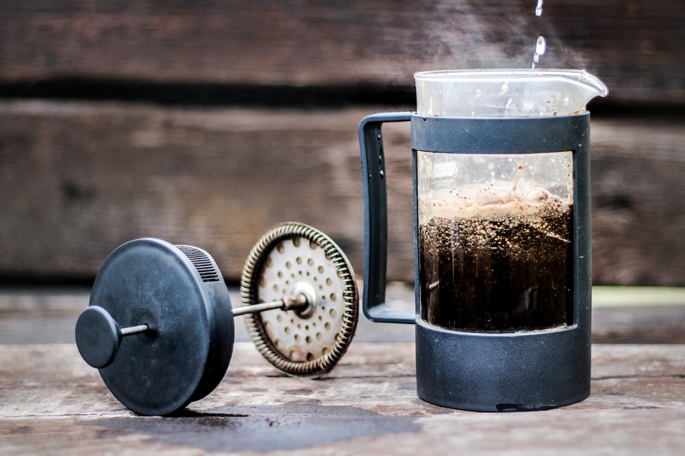 time lapse photo of French press