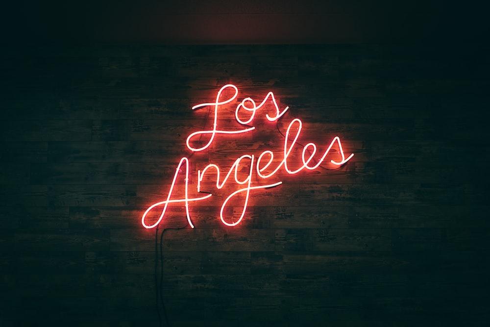 los angeles neon wall decor
