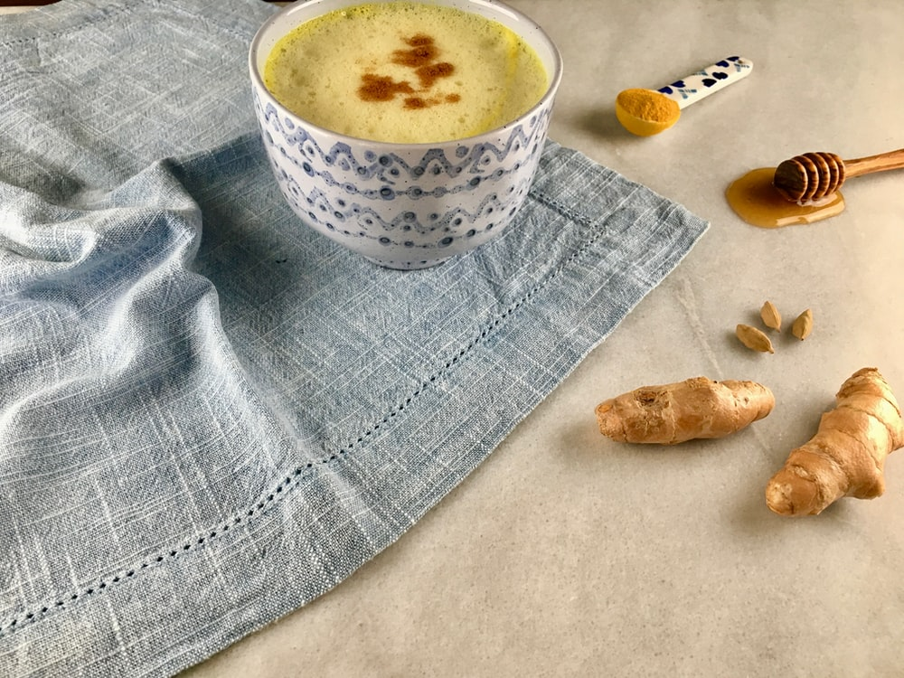 gingers and ceramic bowl