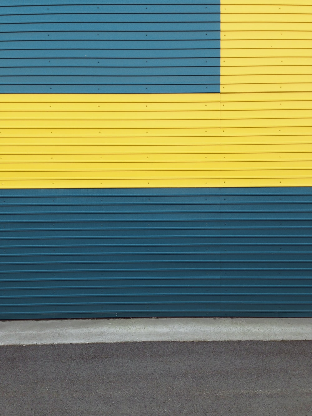 blue and yellow wall