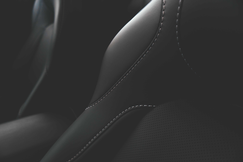 black leather textile