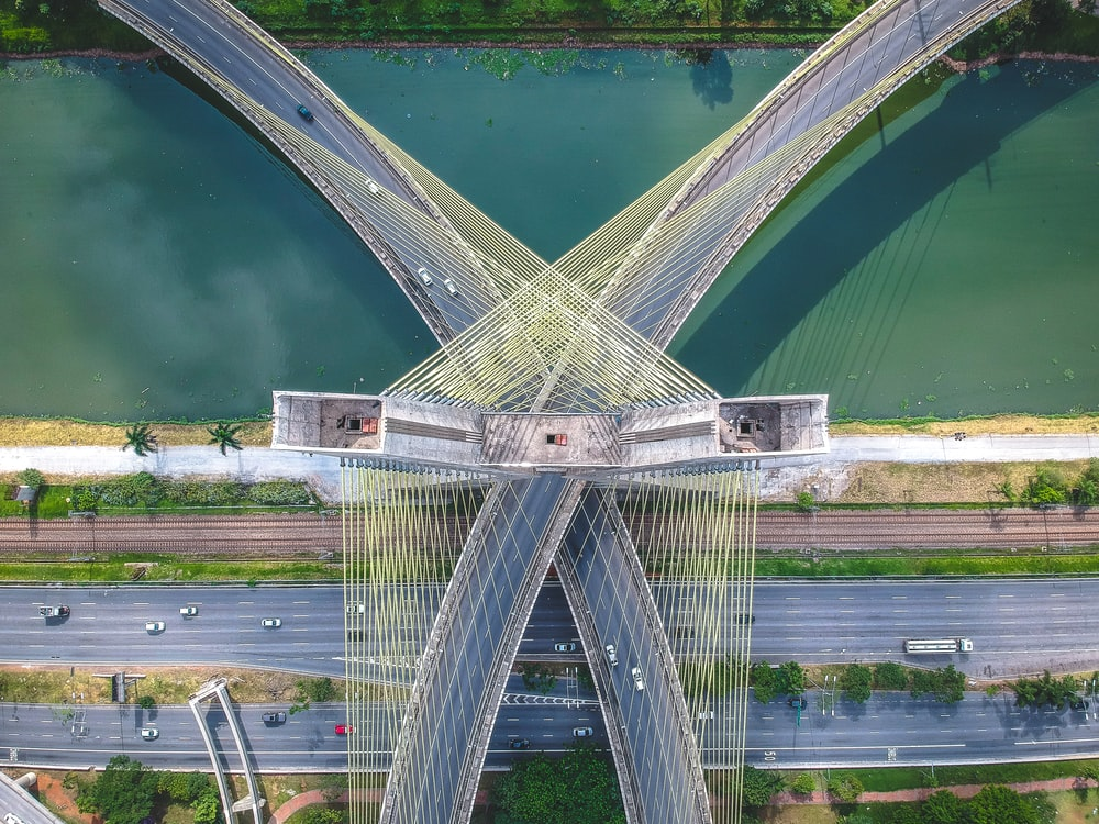 bridge aerial photography
