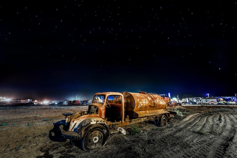 brown truck illustration