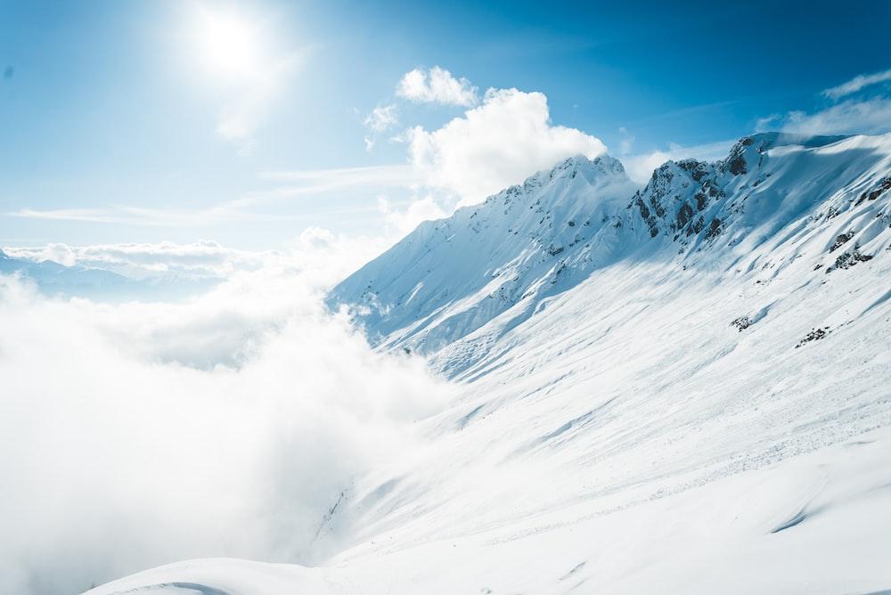 snow mountain during daytime