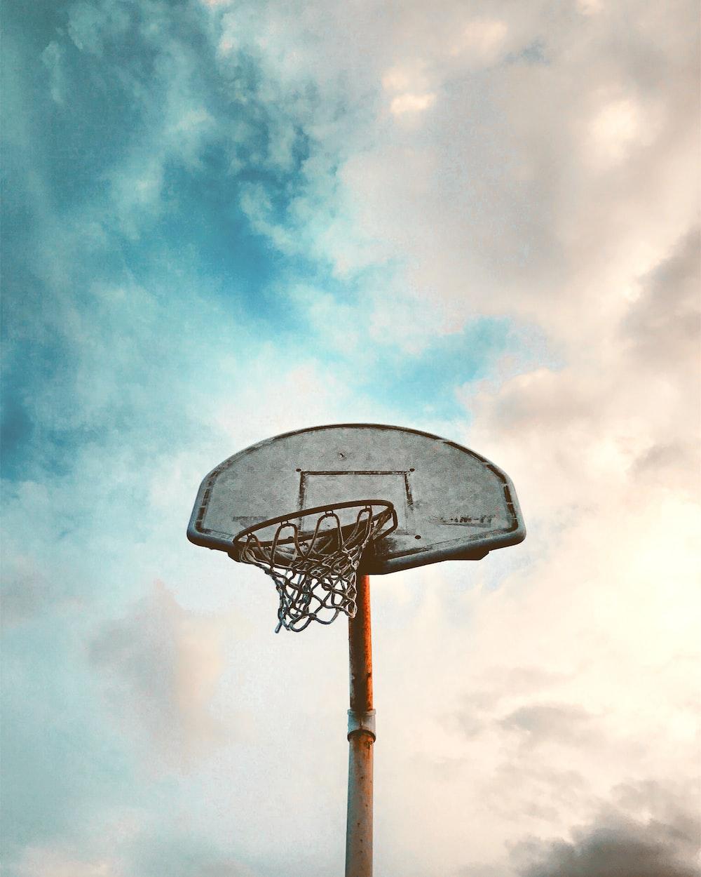 worm's-eye view of basketball board