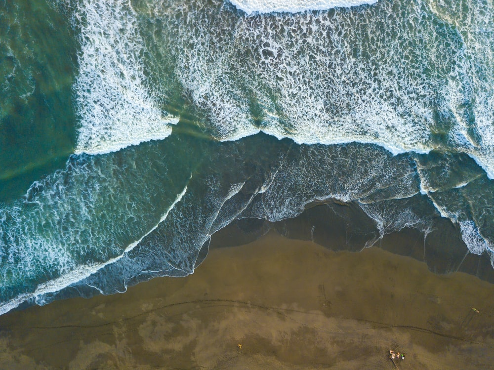 aerial view photography of body of water