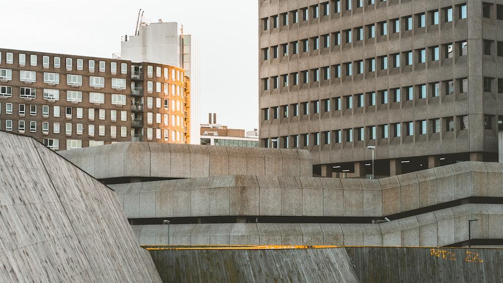 landscape photo of brown concrete buildings