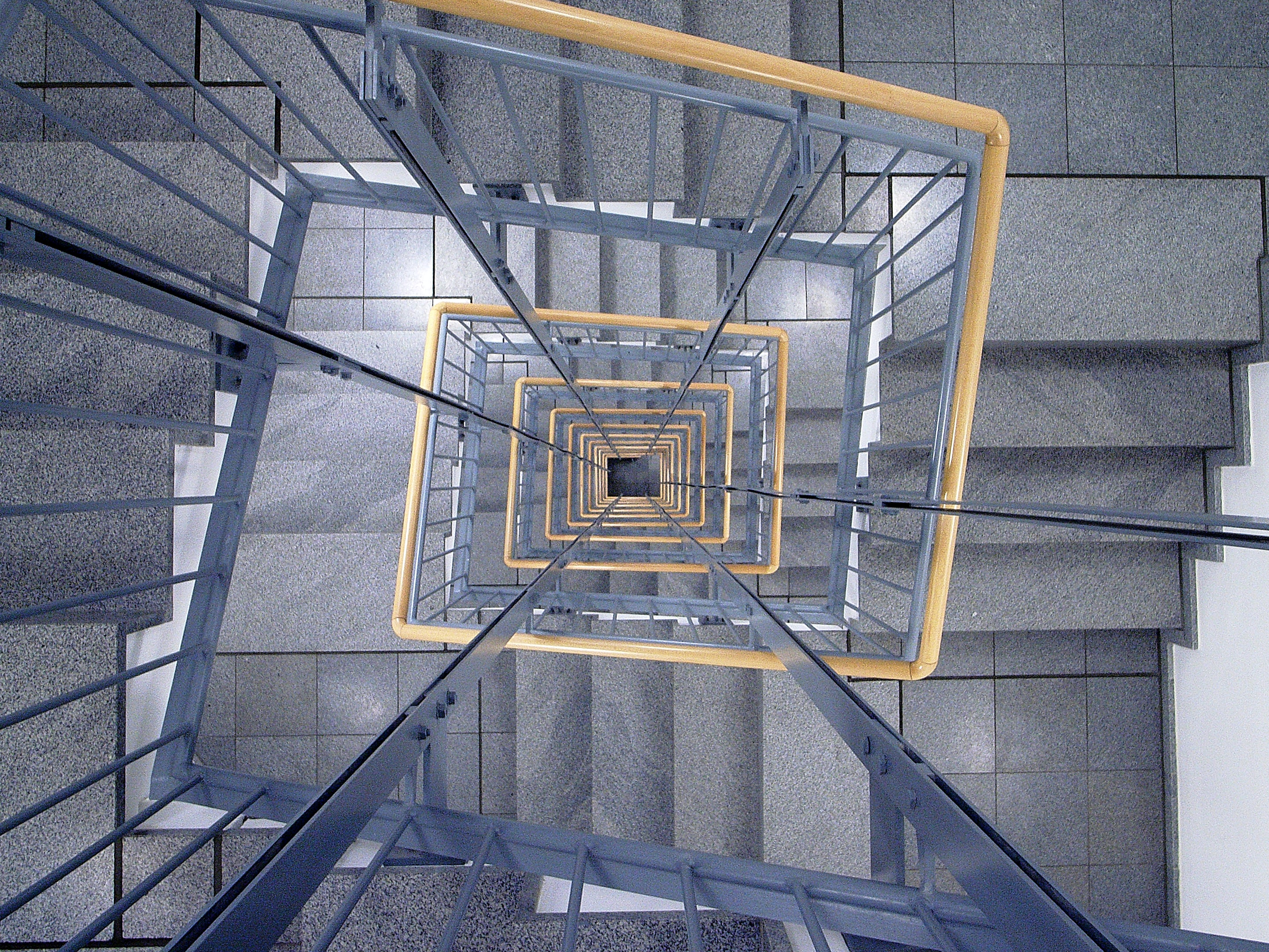 low angle photography of staircase
