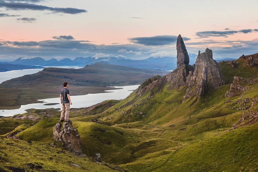 A steep 4am hike to see the sun rise on Old Man Storr. The Storr (Scottish Gaelic: An Stòr) is a rocky hill on the Trotternish peninsula of the Isle of Skye in Scotland.