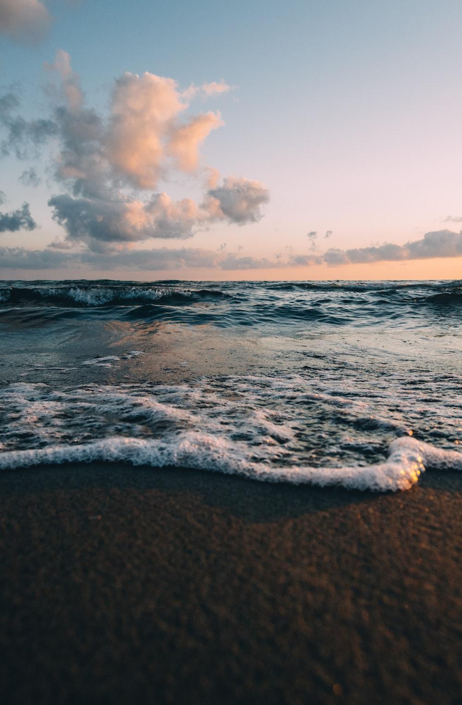 beach in shallow focus