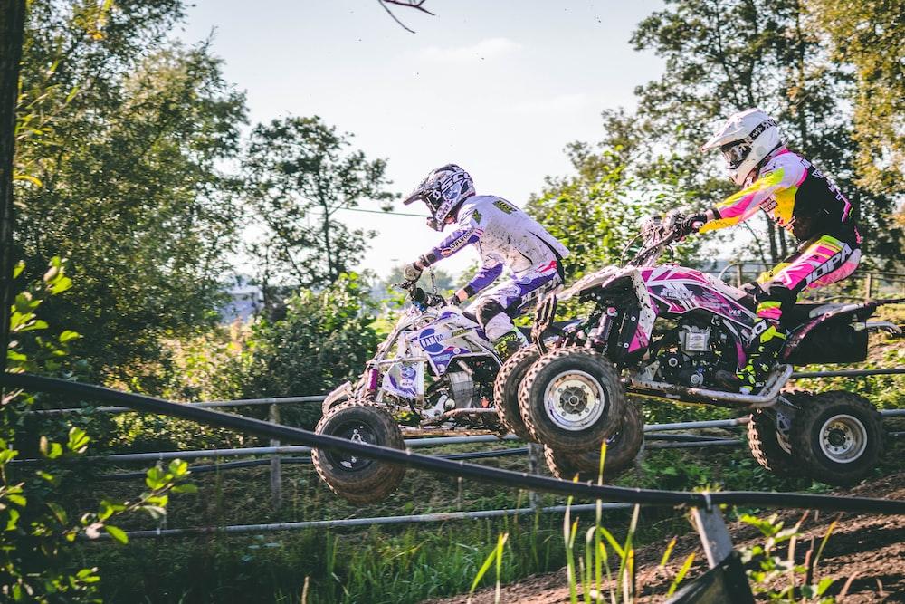racer rides ATV