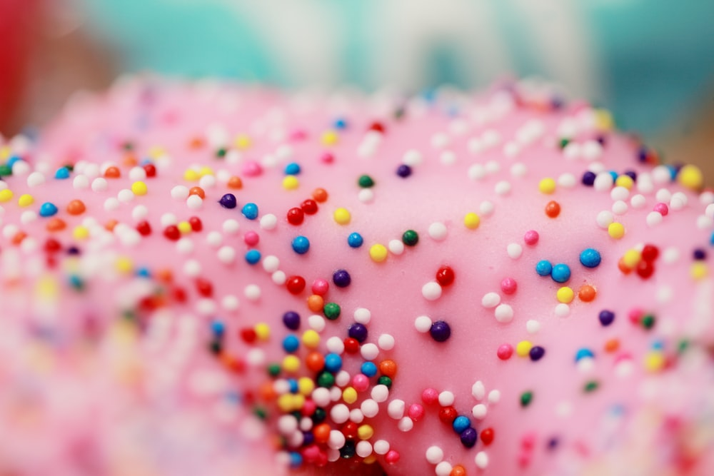 sprinkles on top of pastry