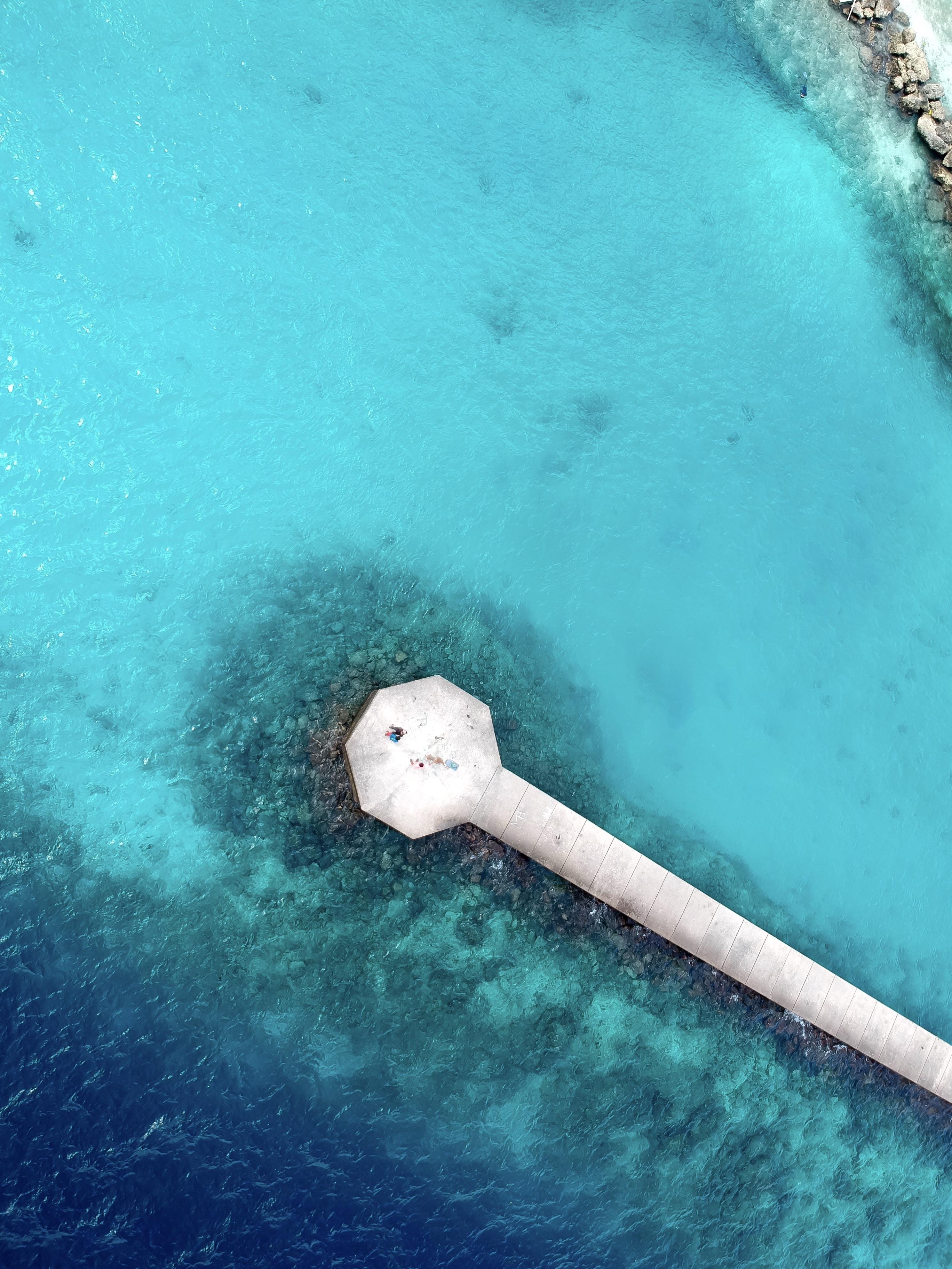 bird's eye view of sea dock