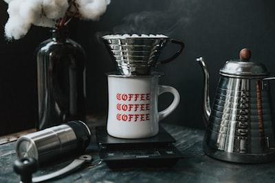coffee mug and teapot
