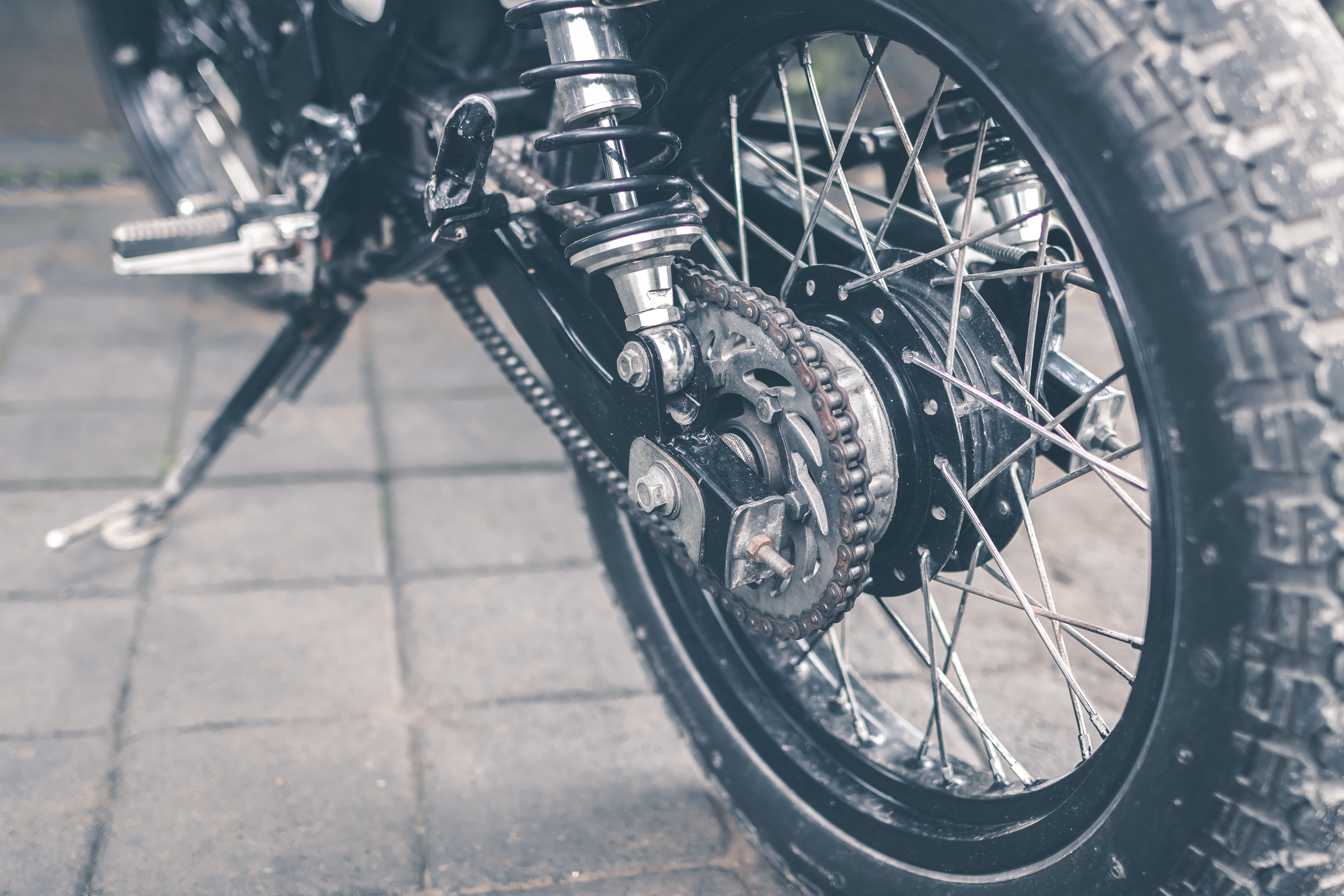 black underbone motorcycle