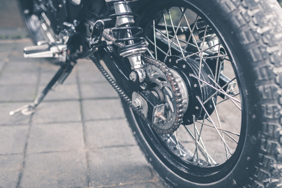 Motorcycle wheel close-up