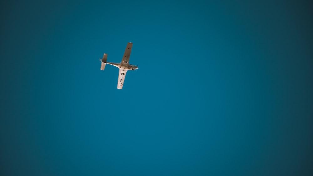 low angle photography of monoplane