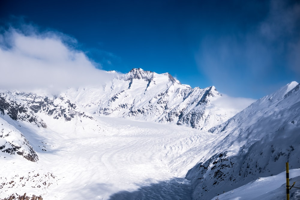 landscape photography of snow-covered mountain