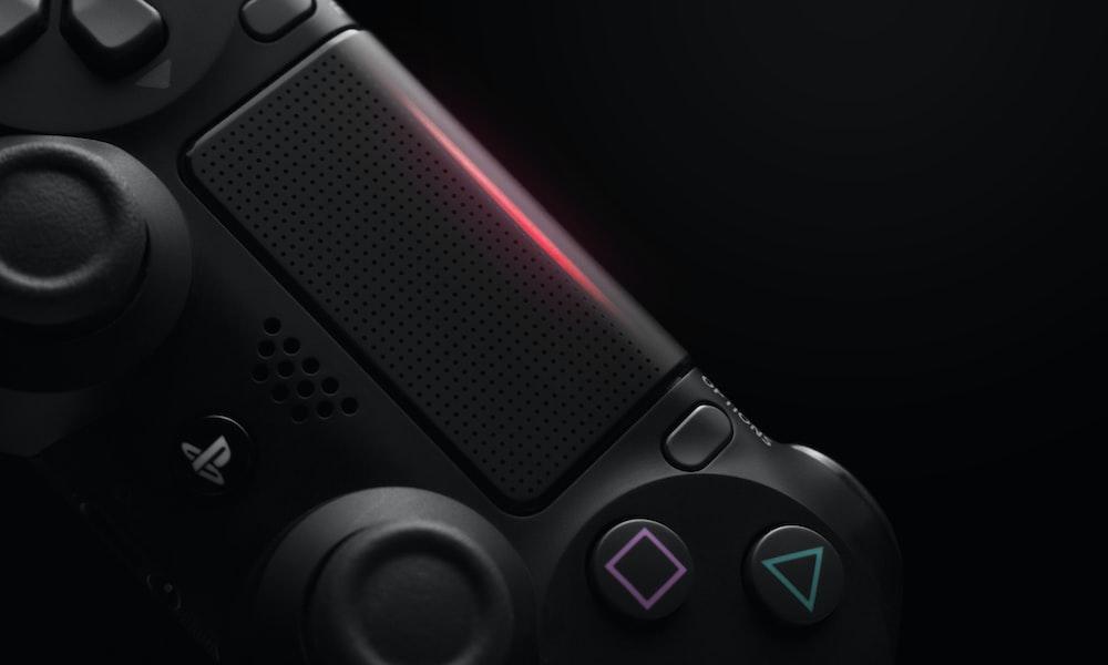 black Sony PS4 wireless controller