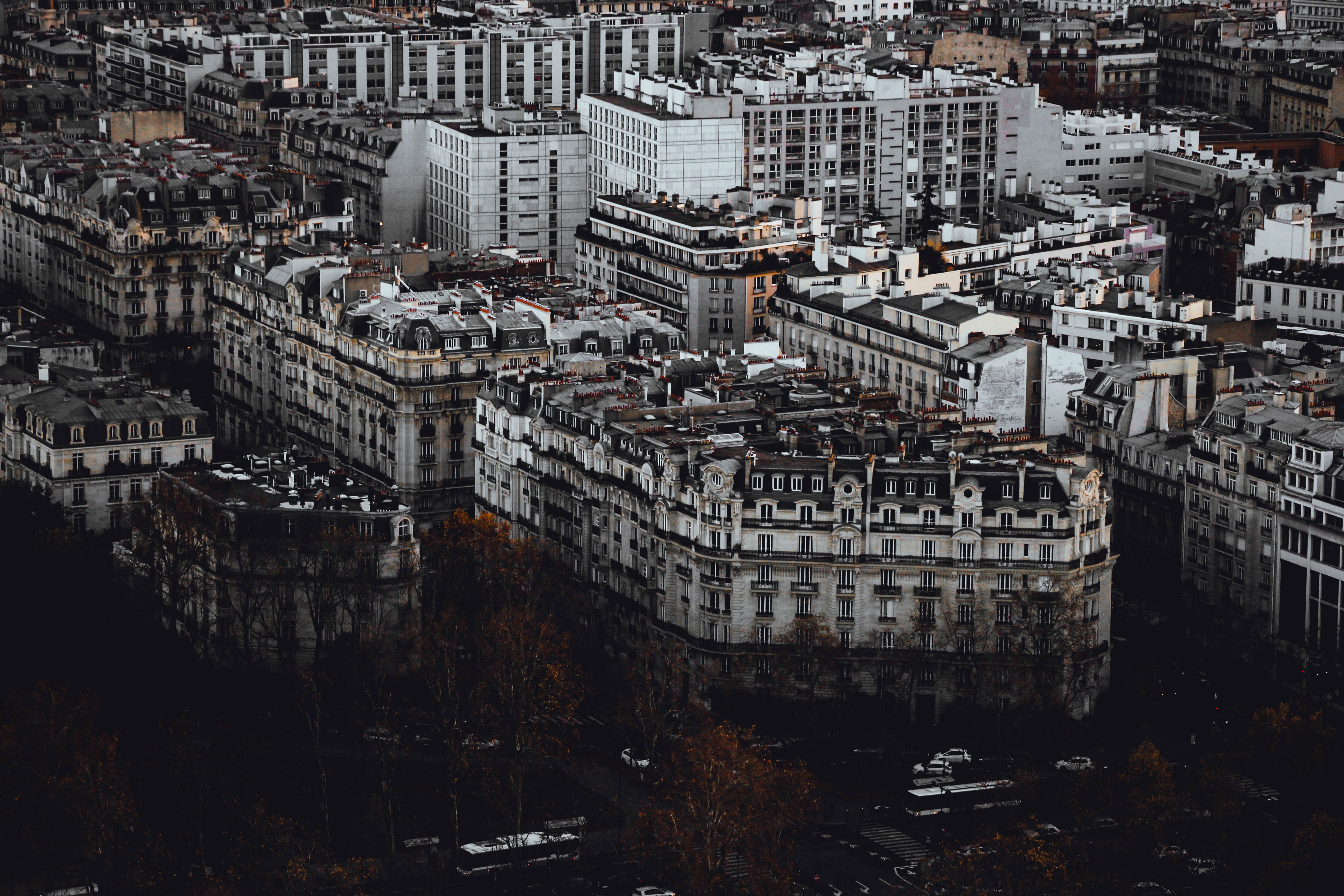 aerial photography of high-rise buildings at day time