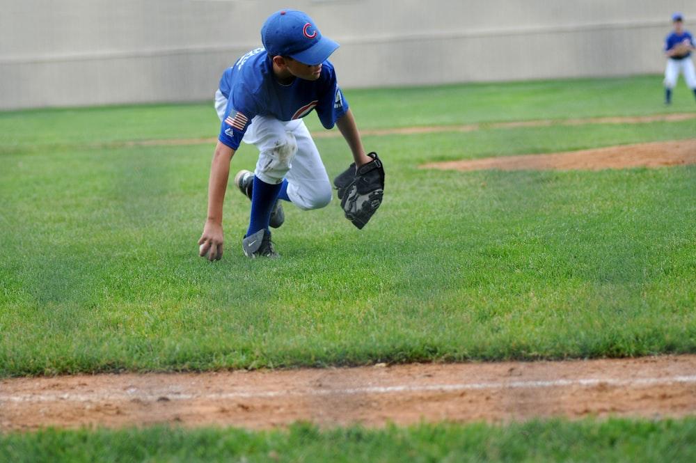 boy wearing baseball gear