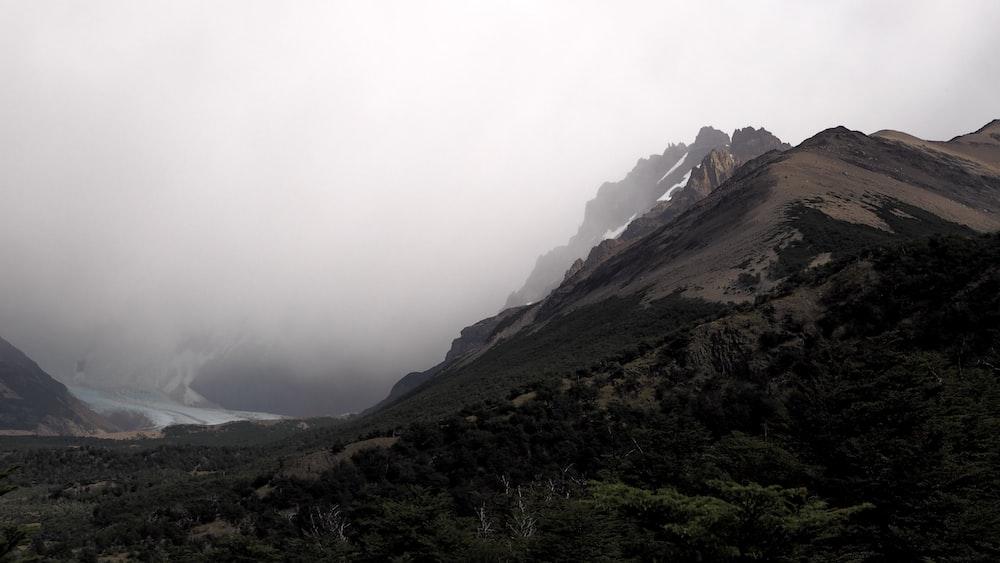 brown mountain photo at daytime