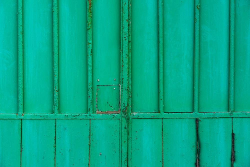 green steel gate