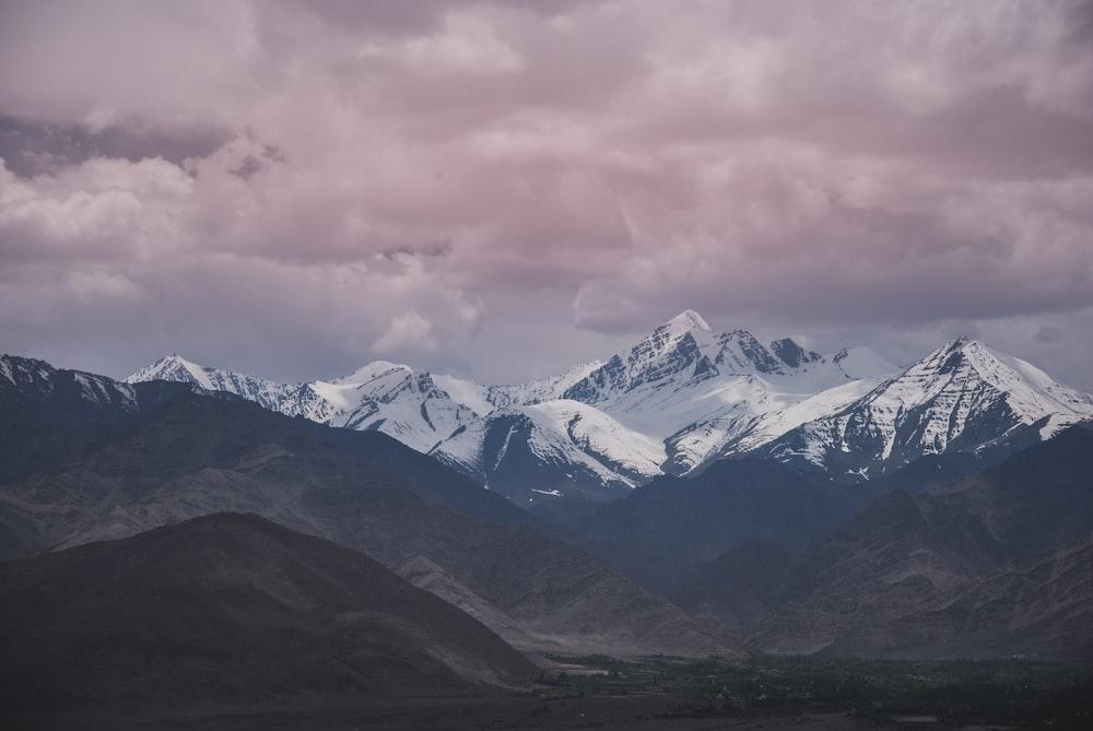 high-angle photography of mountains