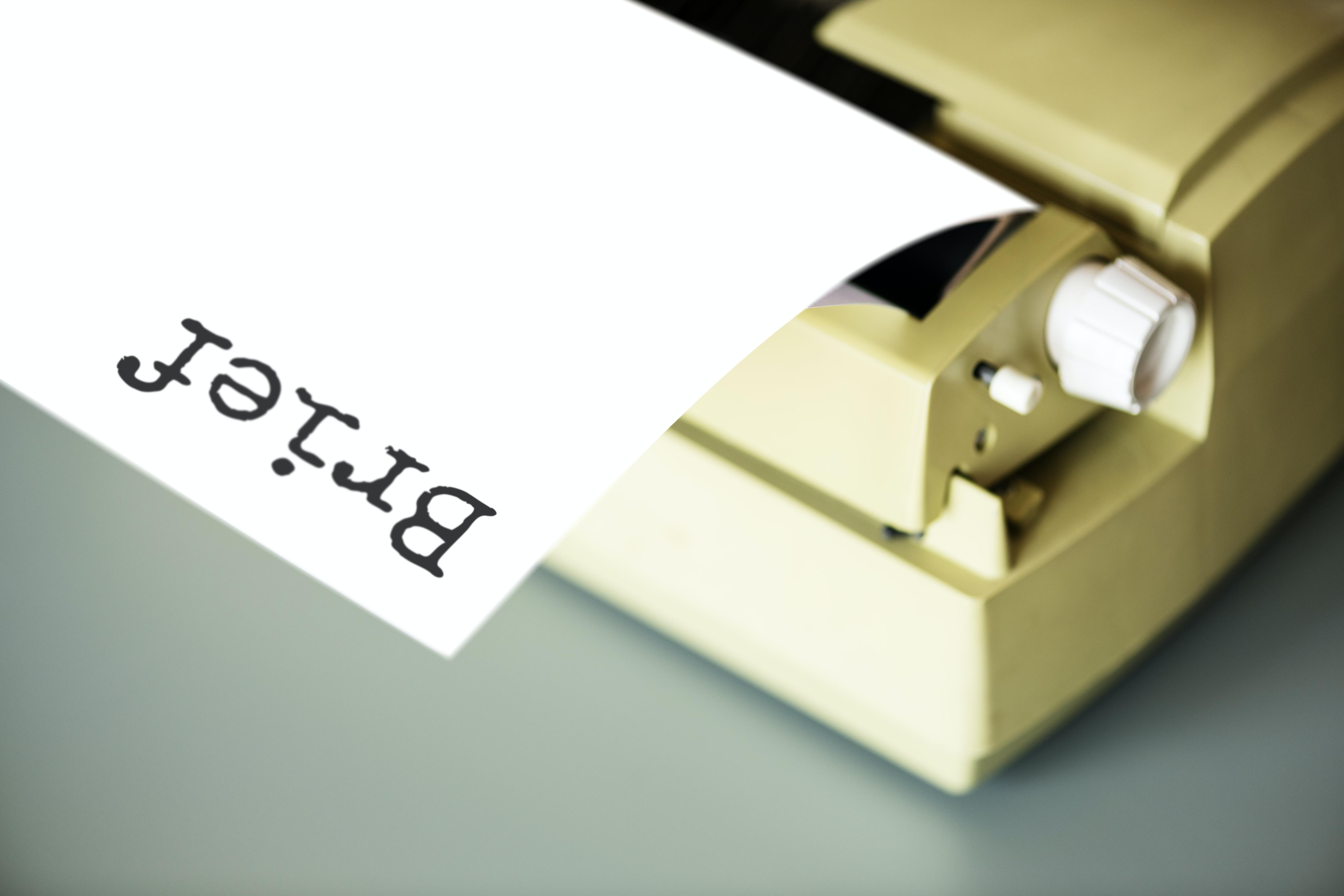 whtie printed paper
