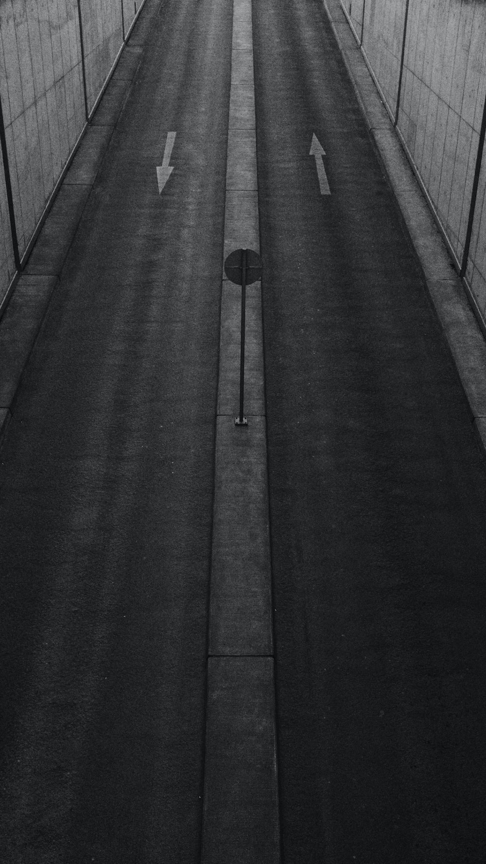aerial photography of concrete road