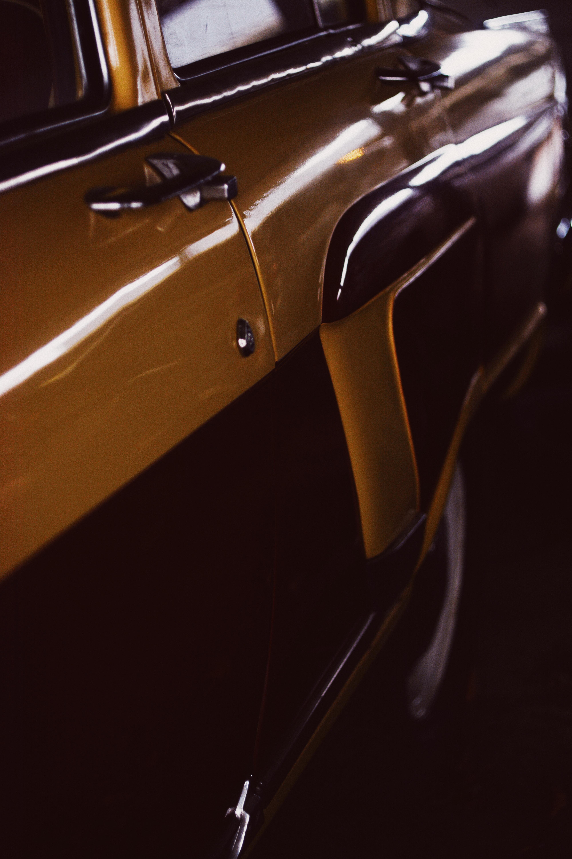 yellow car door